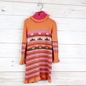 Masaccio Girl Size 4 Sweater Dress W Pom Pom Color